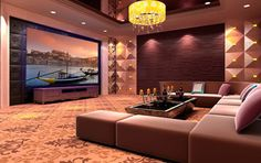 Projector Screens, Mirror TV's & Creative TV Mounts modern-home-theater