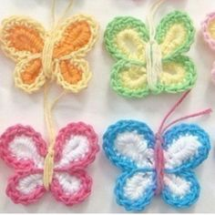 Crochet Butterflies  I really want to learn how to do this...to adorable.
