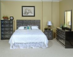 Greystone Gray Bedroom Set #AFPinspiredHome