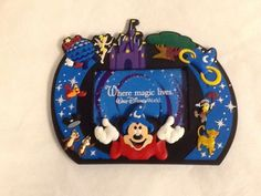 Walt Disney World Picture Frame Magnet Epcot Mickey Mouse Tinkerbell 2x3 Photo #AgiftopCollectorSeries #Contemporary