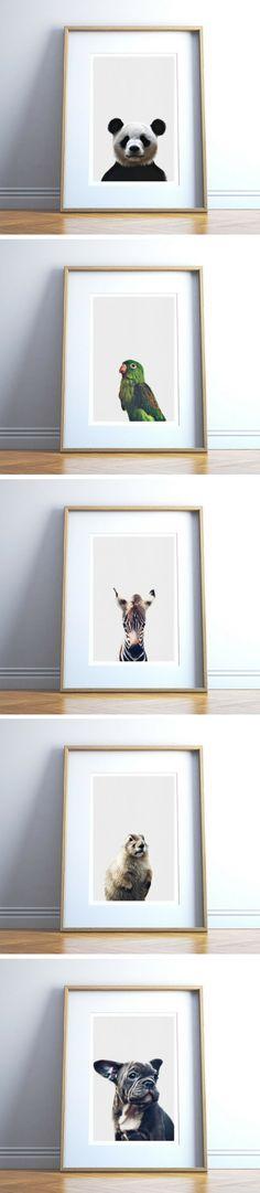Safari Animals , Woodland Animals, by DIY Wall Prints Safari Animals, Woodland Animals, Mini Canvas, Diy Wall, Wall Prints, Sculpture Art, Art Ideas, Composition, Nursery