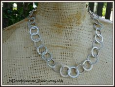Gorgeous, chunky, handmade sterling silver chain necklace $235.00 by JoDeneMoneuseJewelry