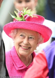The royal beamed as she joined the prize giving ceremony following the prestigious Gold Cup feature race