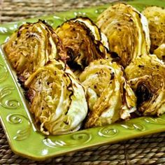 Recipe for Roasted Cabbage with Lemon; low-carb, gluten-free, vegan, dairy-free, Paleo, whole 30