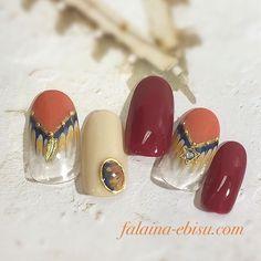 大人フリンジnail☆ #gelnails #gelnaildesign #gelnailart #nail #nailart #nails #naildesigns #nailstagram #instanail #ネイル #ネイルデザイン #ジェルネイル #ジェルネイルデザイン #ジェルアート #フェザー#大人ネイル#フリンジ#ピーコック#ボルドー#テラコッタ