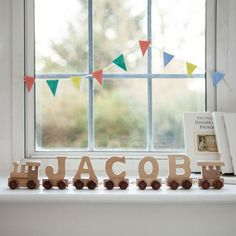 Wooden Personalised Name Train   Traditional Wooden Toy