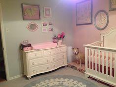 Baby girl nursery, pink and gray.