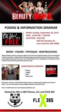 Free Posing and Information Seminar September 20th.