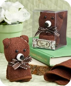 Cute Bear Towel Favors - baby shower favors - coupon code is saveme5