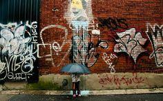 Fantasierijke foto's van street art