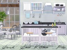 Kitchen Sassi by Pilar at TSR via Sims 4 Updates