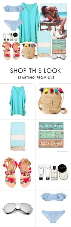 """Baby, let's go to the beach!"" by hancicaf on Polyvore featuring Who What Wear, Chicnova Fashion, Muzungu Sisters, Bohemia, Elina Linardaki, Bobbi Brown Cosmetics and Lisa Marie Fernandez"