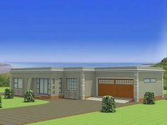 Zambian Small House Plans And Designs Free House Plans, Garage House Plans, Bungalow House Plans, Modern House Plans, Flat Roof Design, House Roof Design, Flat Roof House Designs, Style At Home, Double Storey House Plans