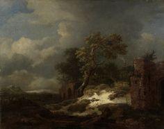 Landscape with Ruins, Jacob Isaacksz van Ruisdael, 1650 - 1682 - Rijksmuseum Landscape Art, Landscape Paintings, Chinese Landscape, Pictures To Paint, Cool Pictures, Rembrandt Paintings, Oil Paintings, Dutch Golden Age, Dutch Painters