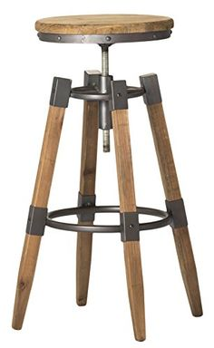 Moes Home Collection Quad Pod Adjustable Bar Stool, Natur... Http:/