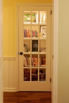 Closet turned into library, very cool. #site:homeinteriorideas.website