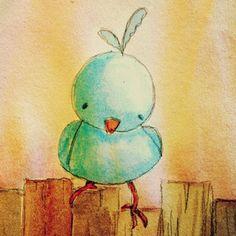 Here birdie birdie birdie.  Love little birdies!
