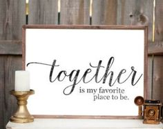 Gather Sign Wood Sign Home Decor by VitaBoutique on Etsy. Always my favorite place.
