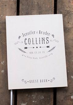 Wedding Guest Book Wedding Guestbook Custom por starboardpress