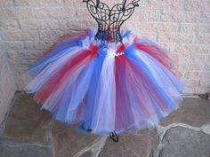 red white and blue tulle skirt for little girls | Tutu, RED, WHITE, BLUE, Crochet-style waistband, for Toddlers Girls ...