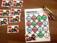 Sight word recognition is an important component in a K-2 classroom. Stop by and pick up FREE printables this Christmas to practice reading and writing sight words. Easy and practical activities to help teach your Kindergarten students sight word recognition using an engaging Christmas theme. These printable games are very low prep activities and printables. #SightWords #ChristmasActivities #KindergartenSightWords