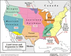 Westward Expansion Map of the USa This is a map of the growth