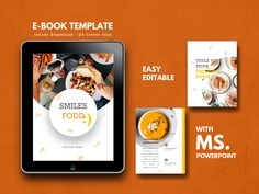 Ad: Recipe Book - Cookbook by rivatxfz on ★★ Get ebook design template with off discount (life time updates!) when you purchasing my big bundles 15 ebook templates Sheets! Keynote Template, Brochure Template, Microsoft Powerpoint, Cookbook Template, 26 November, Journal Template, Bullet Journal, Cover Template
