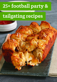 25+ Football Party & Tailgating Recipes – Got game-day jitters because the big football party is at your house? We've got your tailgating needs covered. Here's what the home team wants: crowd-pleasing kabobs, chili, ribs, wings and sweet treats for sweet victories. Best bet for starters? Our Tortilla Appetizer Bites are sure to be a winner!