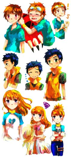 Takato, Henry, & Rika !!