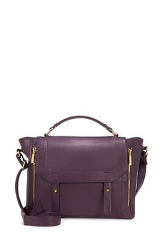 Falling in love with this eggplant (plum?) satchel from JustFab! Christmas gift, anyone? ;)