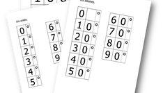Les cartons Montessori pour écrire les nombres en chiffres à partir de 70 Montessori, Math, Words, Education, Classroom Management, Cards, Math Resources, Early Math, Learning