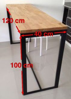 barra desayunadora hierro y madera . Steel Furniture, Industrial Furniture, Diy Furniture, Furniture Design, Bedroom Furniture, Furniture Dolly, Industrial Table, House Furniture, Upcycled Furniture