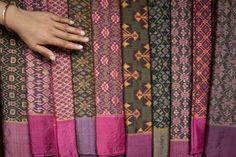 Cambodian silk ikat  at the Institute of Khmer Traditional Textiles