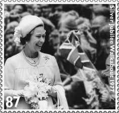 The Queens Diamond Jubilee.               Issued May 2012.                                     Silver Jubilee Walkabout 1977