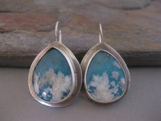 Regency Plume Agate Sterling Silver Earrings by StrawberryFrog