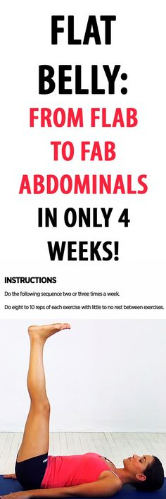 Flat belly: from flab to fab abdominals in 4 weeks!   #abs #abworkout #sixpack #coreworkout #flatstomach