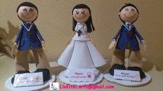 Muñecos fofuchos comunión personalizados para Mariví, Jose y Miguel/Personalized fofucho dolls First Comunion specially made for Mariví, Jose and Miguel