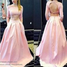 Sweetheart Cute Prom Dresses,Two Piece Prom Dresses,Long Sleeve Prom Dresses,Backless Prom Dresses on Luulla Simple Formal Dresses, Prom Dresses Long Pink, Pink Party Dresses, Prom Dresses Two Piece, Prom Dresses 2017, Backless Prom Dresses, Dresses For Teens, Dress Prom, Prom Gowns
