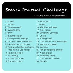 """Life is a Canvas: Smash Book Challenge. not sure exactly what a """"smash book"""" is. i'm thinking some sort of scrapbook/journal/art combo thing. Wreck This Journal, My Journal, Journal Prompts, Journal Pages, Writing Prompts, Book Prompts, Scrapbook Journal, Journal Entries, Writing Ideas"""