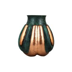NOVICA Artisan Handcrafted Copper Vase with Verdigris Accents ($108) ❤ liked on Polyvore featuring home, home decor, vases, metallic, copper vase, novica, copper home decor, handmade home decor and handcrafted home decor