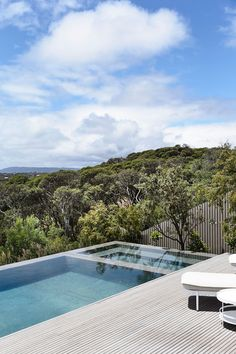 Blairgowrie Ocean Beach House by Planned Living Architects - The Local Project Jacuzzi, The Design Files, Pool Houses, Pool Designs, Ocean Beach, Swimming Pools, House Plans, Outdoor Living, Outdoor Decor
