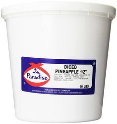 Paradise Diced Pineapple 1/2 Inch, 10 Pound Tub ** See it now, it's a great product : Fresh Groceries