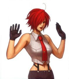 Few words describe Vanessa. Secret agent, boxer, that outfit, Style. An heavily under appreciated character in the KoF series she has however been well loved by Japanese otakus and pervs of all kinds. Her statue (latest) is one of the most sought after. :-) Google it
