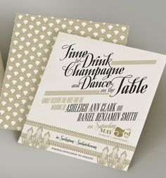 Gatsby Art Deco Invitation by MilanoInk on Etsy