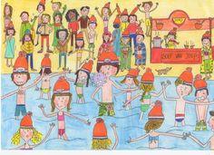 Wiebel & Kriebel vieren Oud & Nieuw én nemen een nieuwjaarsduik! Maar wat is er met Wiebels zwembroek aan de hand....? 😮  Namens Wiebel & Kriebel een gezellige jaarwisseling en een wiebelig & kriebelig 2018 gewenst! 🎉  #feestenmetWiebelenKriebel #OudenNieuw #nieuwjaarsduik #nieuwjaar #bestewensen #vuurwerk #voorlezen #bewegen #interactief #beweging