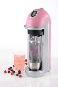 Suddenly my boring green soda stream (still in the box, mind) seems worthless! Pink please! Riverside Cottage, Pink Home Decor, Raw Vegetables, Island, Starter Kit, Cool Gadgets, Popcorn Maker, Easy Healthy Recipes, Helpful Hints