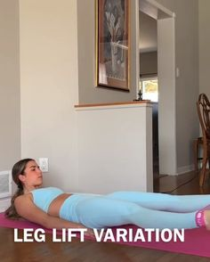 Flat belly leg raise variation with resistance bands Gym Workout Videos, Butt Workout, Easy Workouts, At Home Workouts, Home Exercise Program, Workout Programs, Fitness Workout For Women, Fitness Diet, At Home Abs