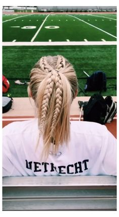 Track Hairstyles, Running Hairstyles, Athletic Hairstyles, Cute Hairstyles For Teens, Softball Hairstyles, Teen Hairstyles, Cute Sporty Hairstyles, Hairstyles Videos, Cute Hairstyles Short Hair