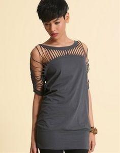 diy shirt gray tee....great idea for Zumba shirt