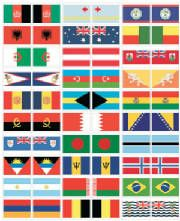 Free Countries of the World Pin Map Flags from Livable Learning